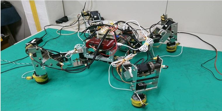 図2 Quadruped robot with series elastic actuators