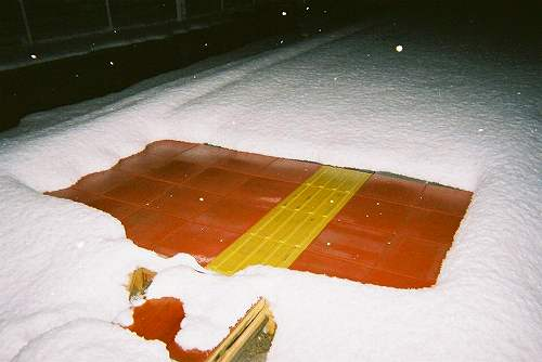 Fig. 2. Snow melting system by laying special tiles